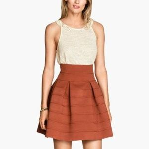 Rust high-wasted skirt H&M